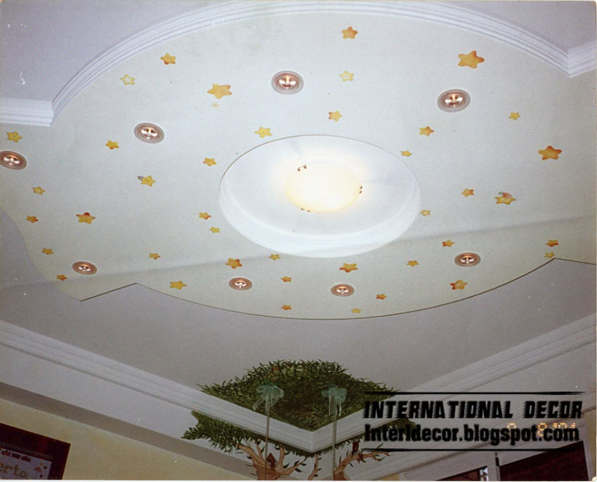 Italian gypsum board roof designs bill house plans for Images decor gypsum