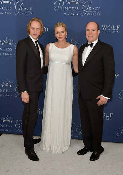 His Serene Highness Prince Albert II of Monaco speaks onstage during the 2014 Princess Grace Awards Gala at the Beverly Wilshire Four Seasons Hotel on 08.10.2014 in Beverly Hills, California