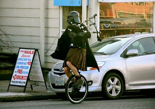 Darth Vader, bagpipes, unicycle