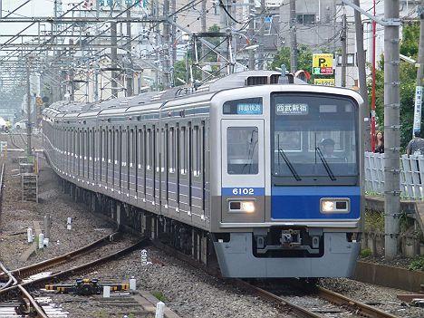 西武新宿線 拝島快速 西武新宿行き7 6000系(廃止)