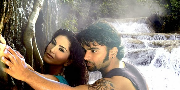 sunny leone and sachin joshi in jackpot still