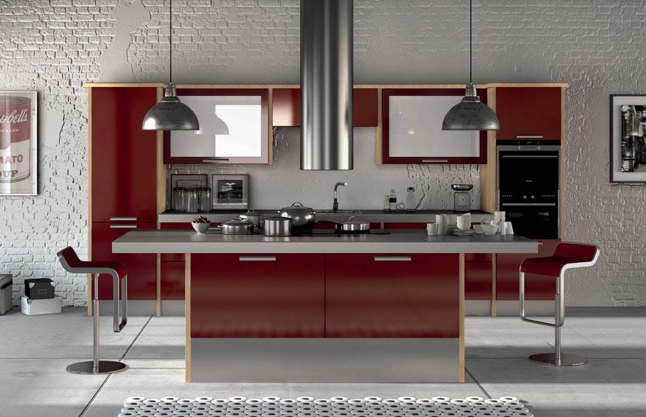 Meble kuchenne premium aran acja kuchni kuchnia w for Maroon kitchen designs