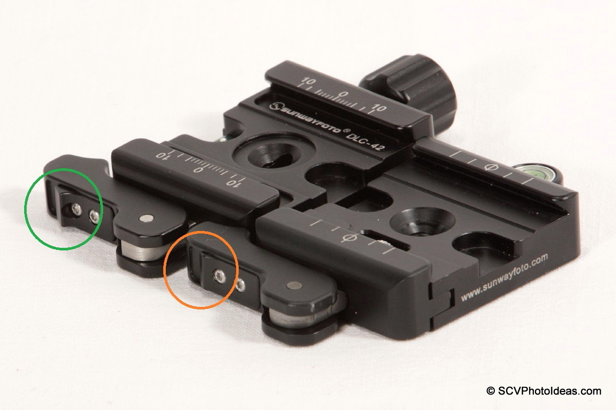 Sunwayfoto DLC-42 vs DDC-42LR Lever lock comparison
