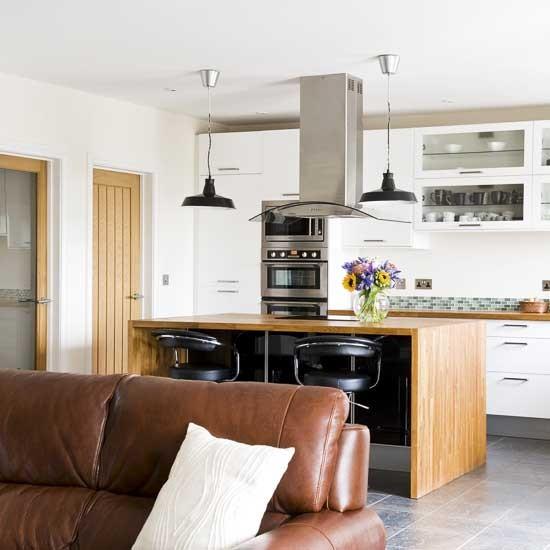 Muebles de cocina para ganar m s espacio kansei cocinas - Unir cocina y salon ...