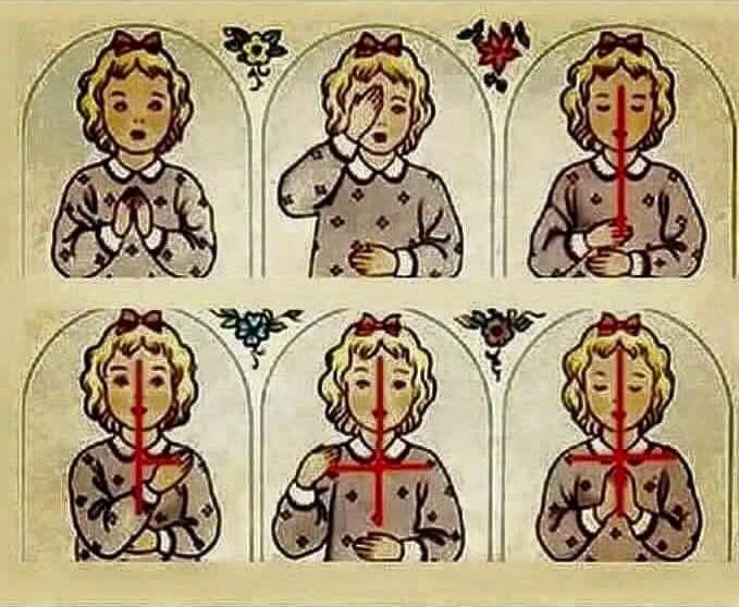 Znalezione obrazy dla zapytania robimy znak krzyża
