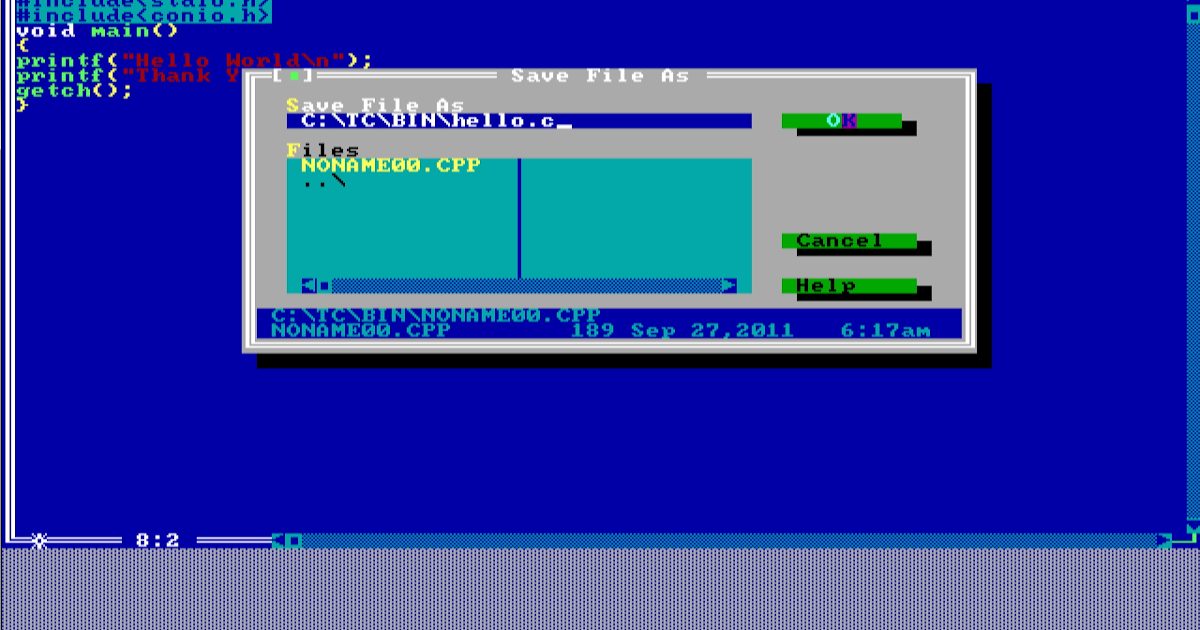 Hdh Turbo C C Is The Most Popular C And C Compiler