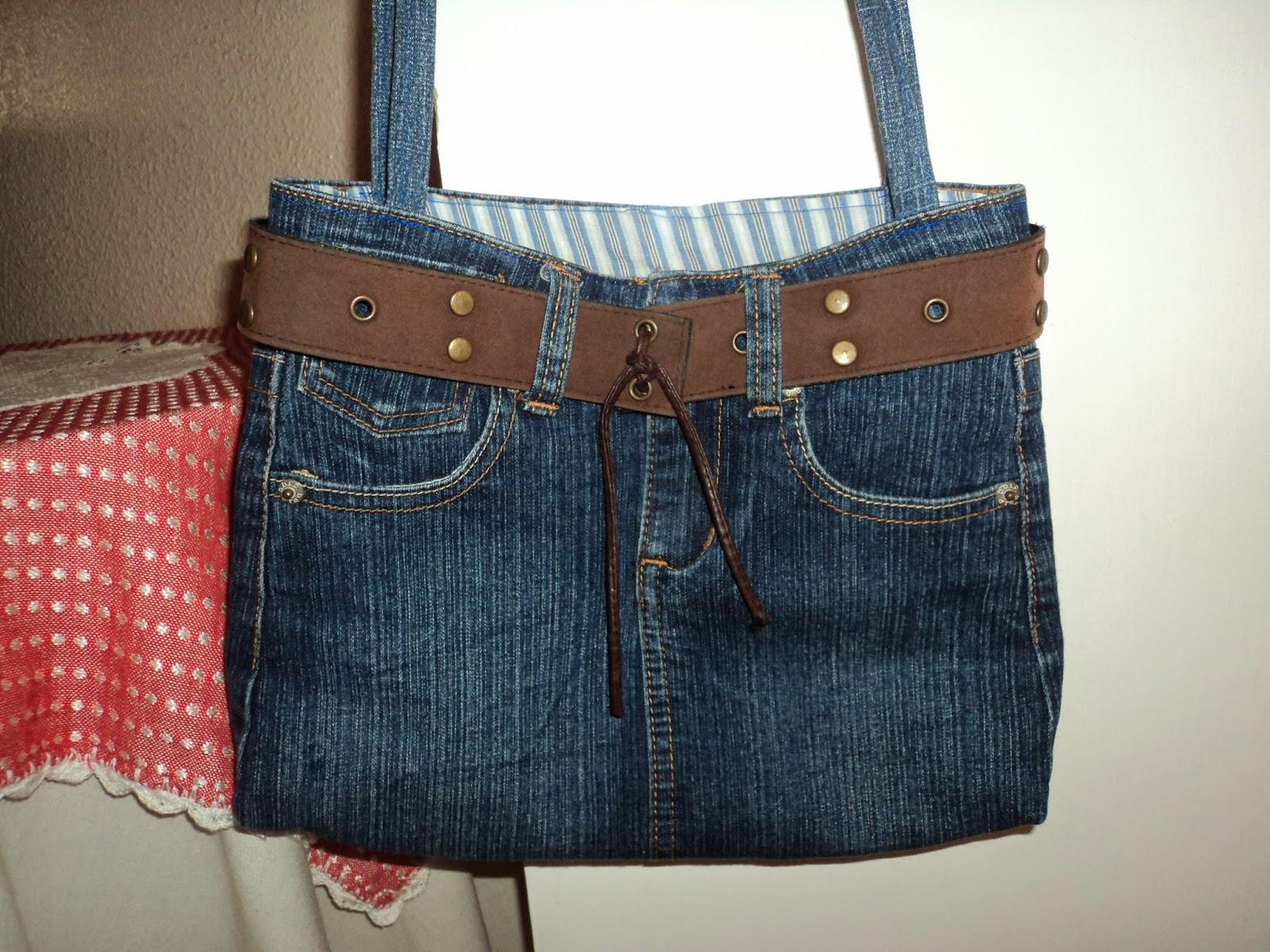 Juegos De Baño Reciclados:Manualidadescarly: Bolsos con jeans reciclados