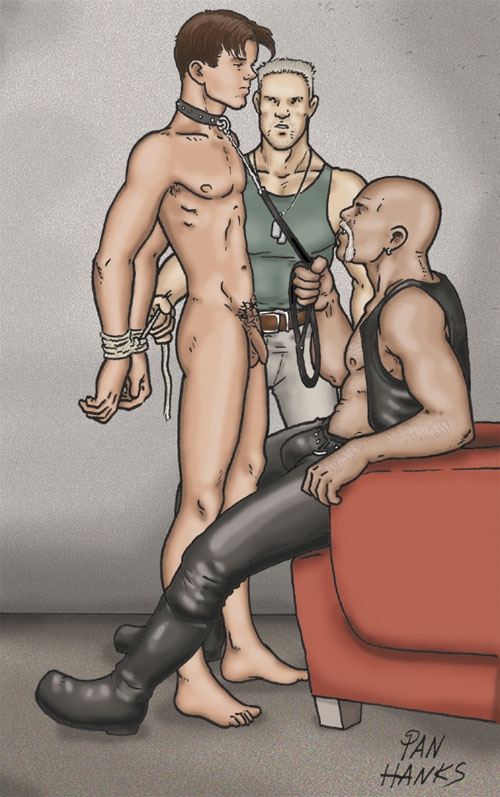 You gonna be my slave boy - art by PAN hanks.