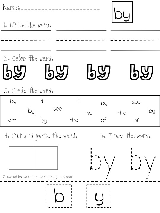 we Study free  Word worksheet Sight sight word