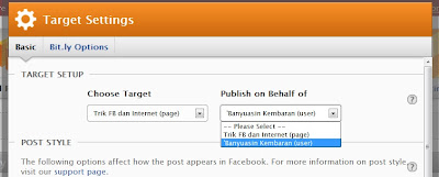 setting rss graffiti ke fesbook
