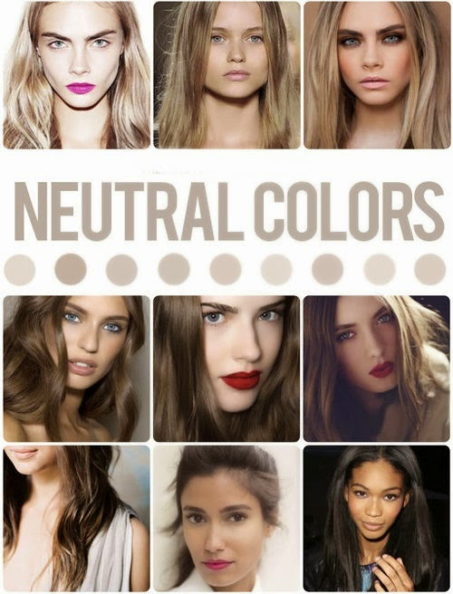 Neutral Hair Color for Olive Skin