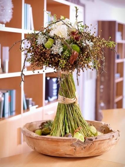 höstbukett, bukett bär, frökapslar lin, bukett frökapslar lin, autumn bouquet, bouquet berries, seed pods flax, bouquet seed pods flax