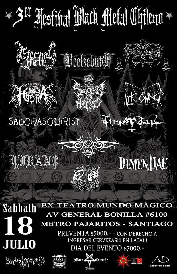 3ER FESTIVAL BLACK METAL CHILENO --