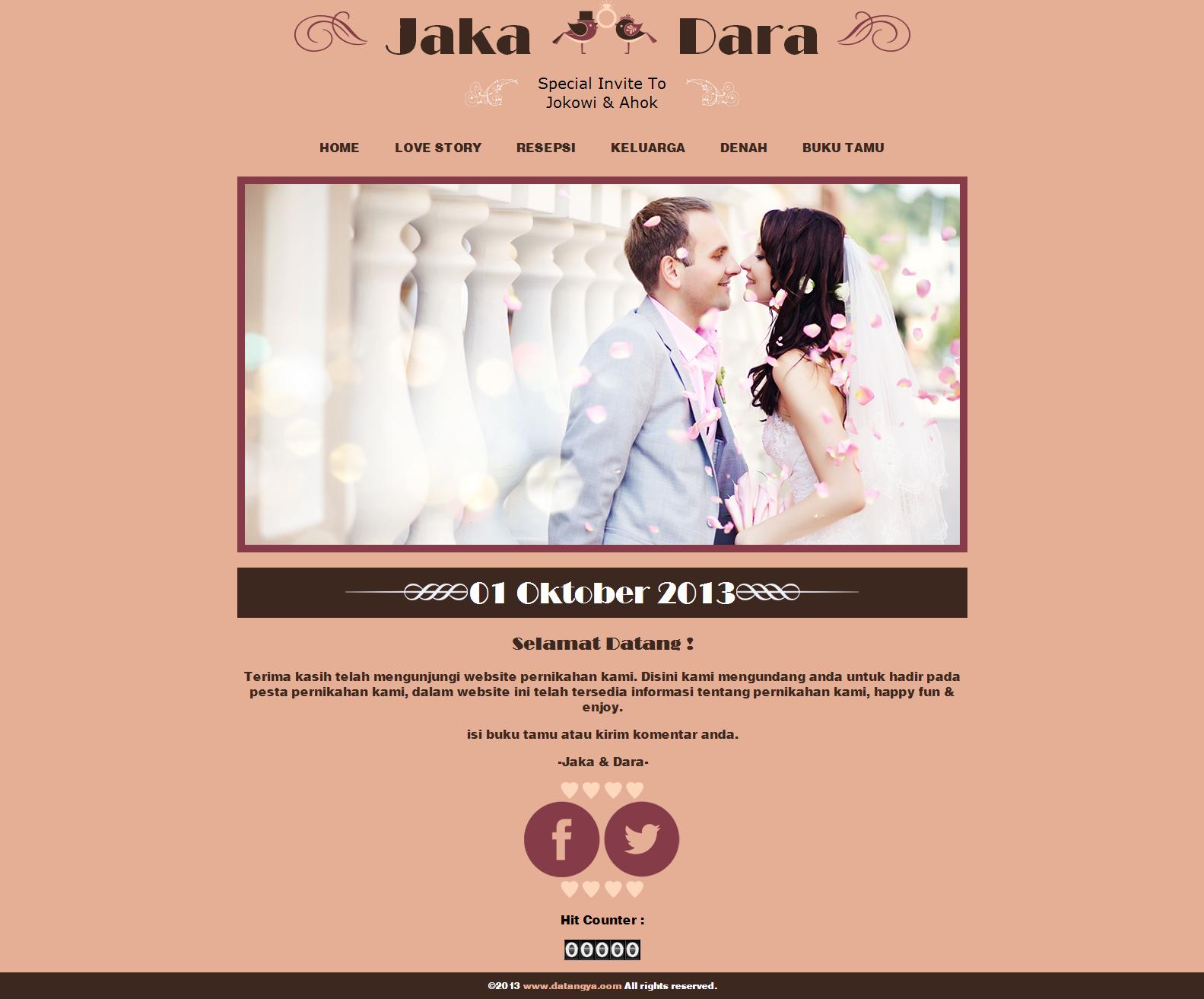 Undangan pernikahan online desain undangan online luxury datangya
