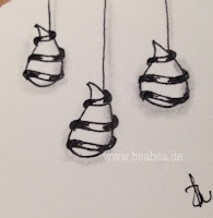 Zentangle-Muster. Tangle: Zwieblbee, Designer: Beate Winkler, CZT
