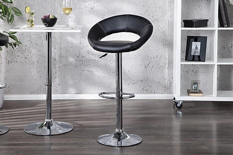 Dizajnove stolicky do baru, moderne barovky cierne