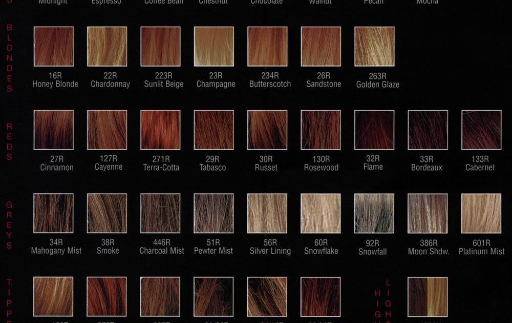 All Your Hair Style Revlon Hair Color Chart