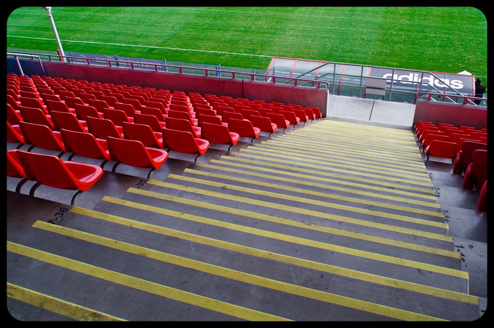 Trybuny na stadionie Piasta Gliwice. fot. Łukasz Cyrus, Ruda Śląska