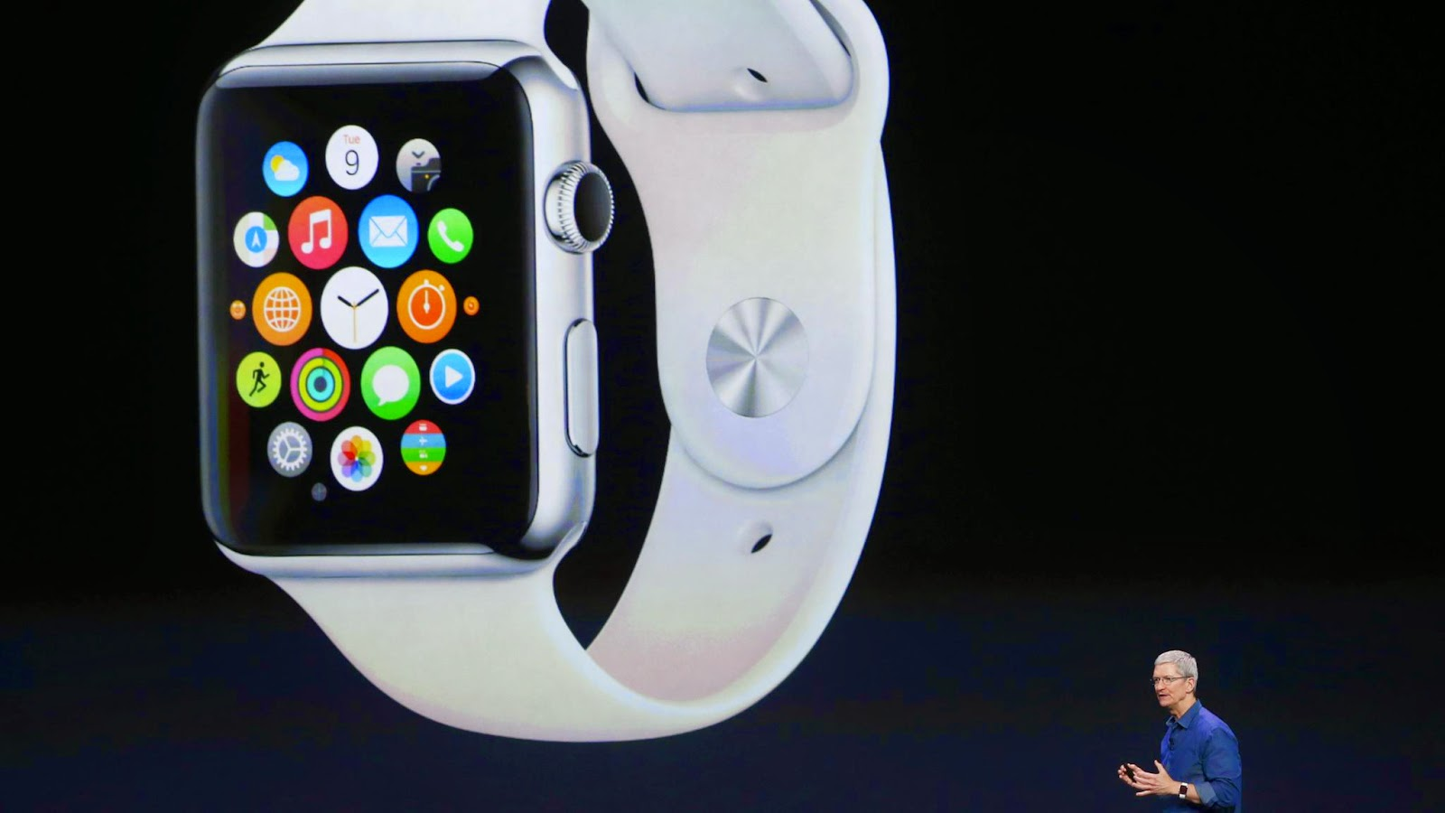 Tim Cook revealing Apple watch