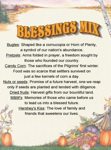 Recipe Roundup Thanksgiving Blessing Mix