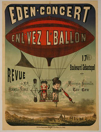 printables, classic posters, free download, graphic design, retro prints, travel, travel posters, vintage, vintage posters, Eden Concert Enl' Vez L'Vallon - Vintage French Travel Poster