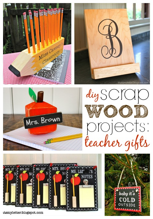 wood scrap projects: teacher gifts