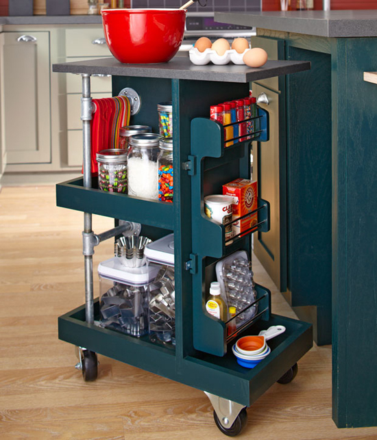 Ingenious Repurposing Unusual Kitchen Islands And Printers: IHeart Organizing: You Asked: Repurposed Component Cabinet