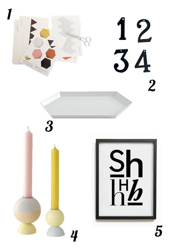 Adventsdeko geometrische Formen
