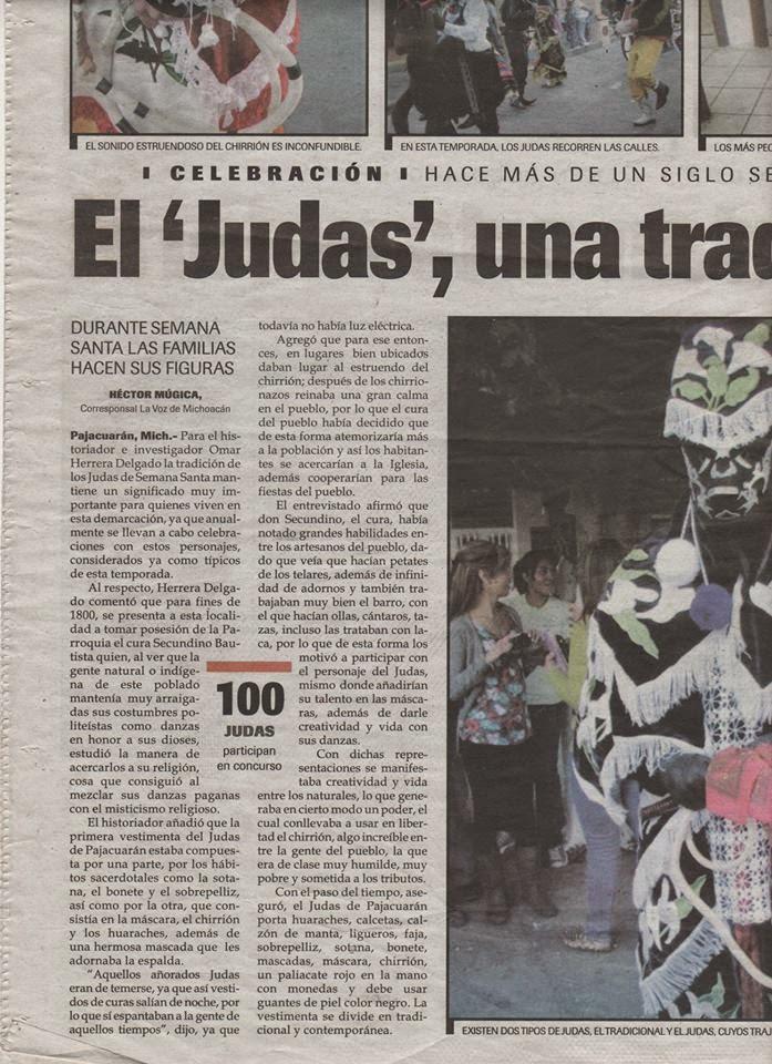 EL JUDAS DE PAJACUARAN EN LA VOZ DE MICHOACAN