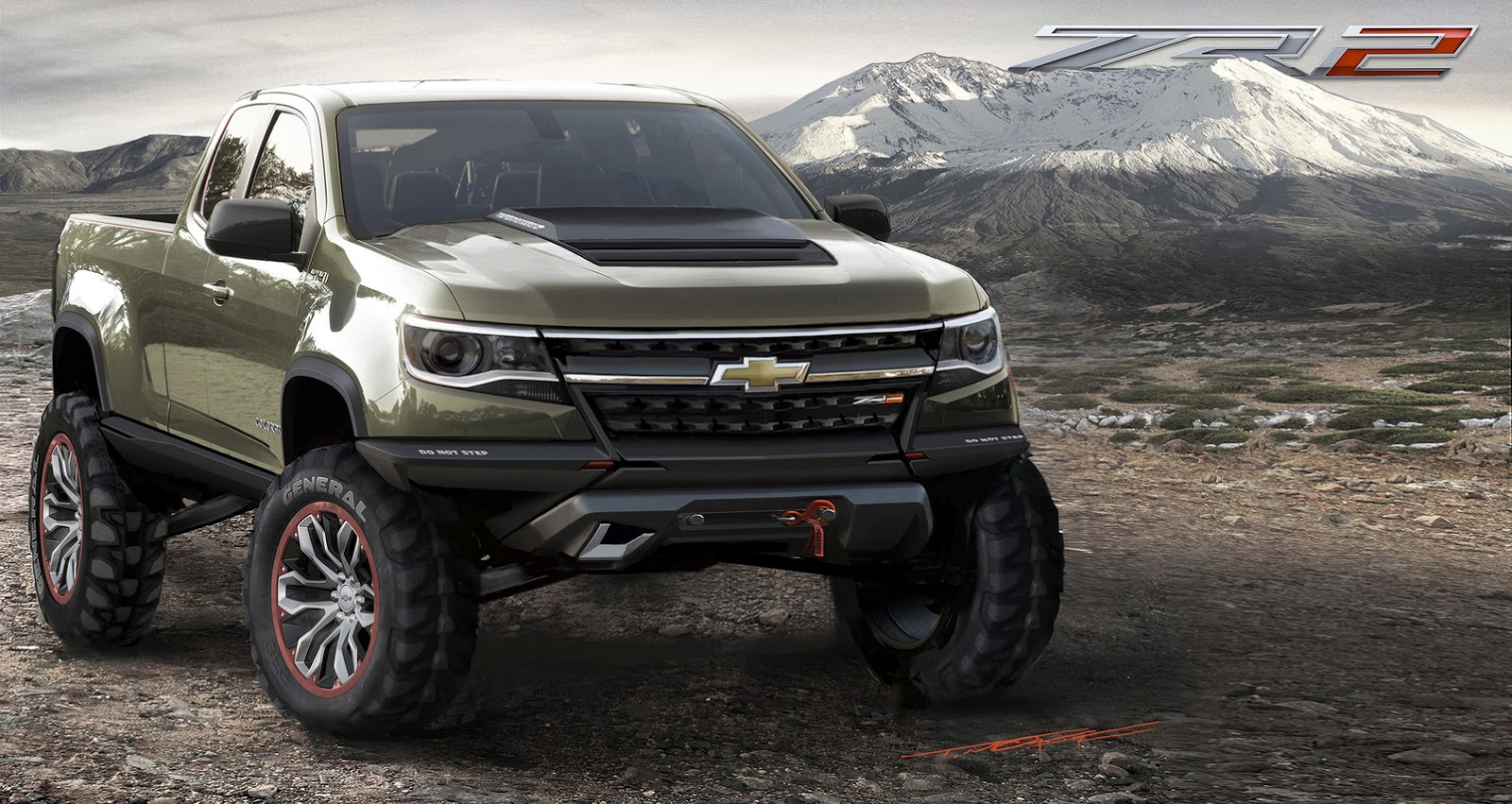 chevy 39 s diesel powered colorado zr2 concept is one helluva cool truck carscoops. Black Bedroom Furniture Sets. Home Design Ideas