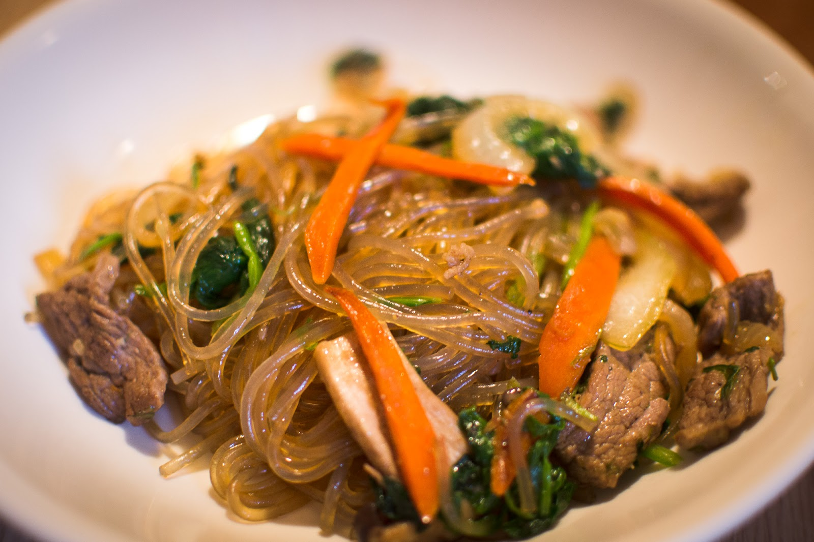 Japchae (Korean Stir-Fried Sweet Potato Noodles) Recipe ...