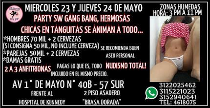 MIERCOLES 23 Y JUEVES 24 DE MAYO DE 3 PM A 11 PM RUMBA SW CON LINDAS CHICAS