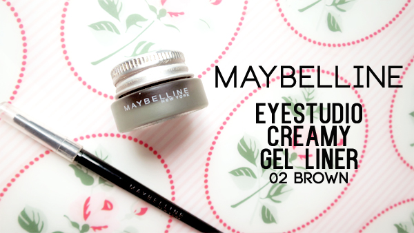 Maybelline Eye Studio Creamy Gel Liner 02 Brown (Swatch and Review)