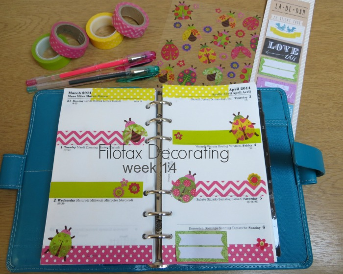 Filofax Decorating Week 14 at Poppy Sparkles #filofax #planner #washitape #filofaxaddict