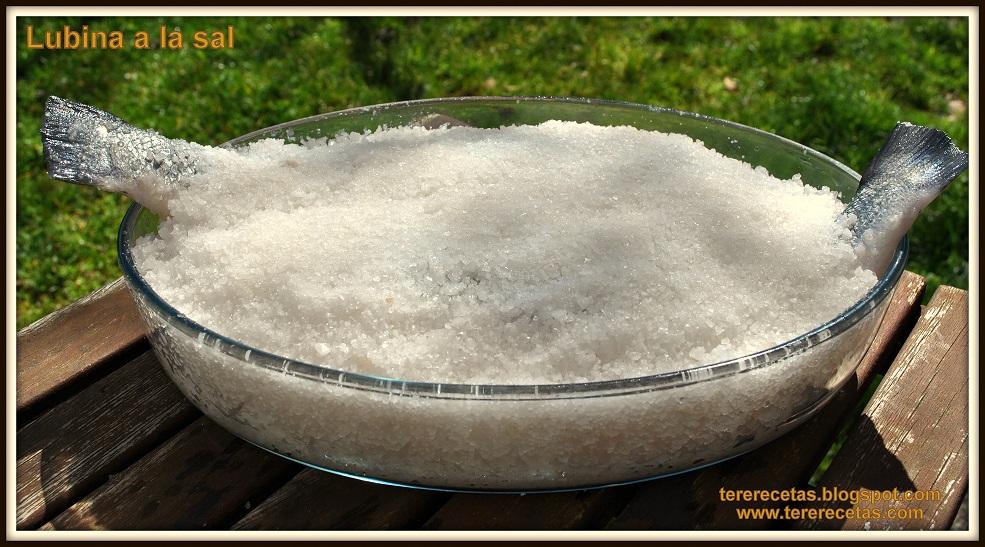 Lubina a la sal blog las recetas de tere for Salsa para lubina a la sal