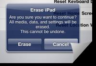 Hapus Data iPad