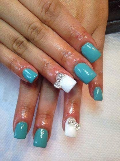 Natural acrylic overlays, predesigned tips, gel backfill & hazing, backfill then LED polish manicure some enhance it with a rose