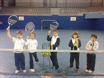 En clase de tenis