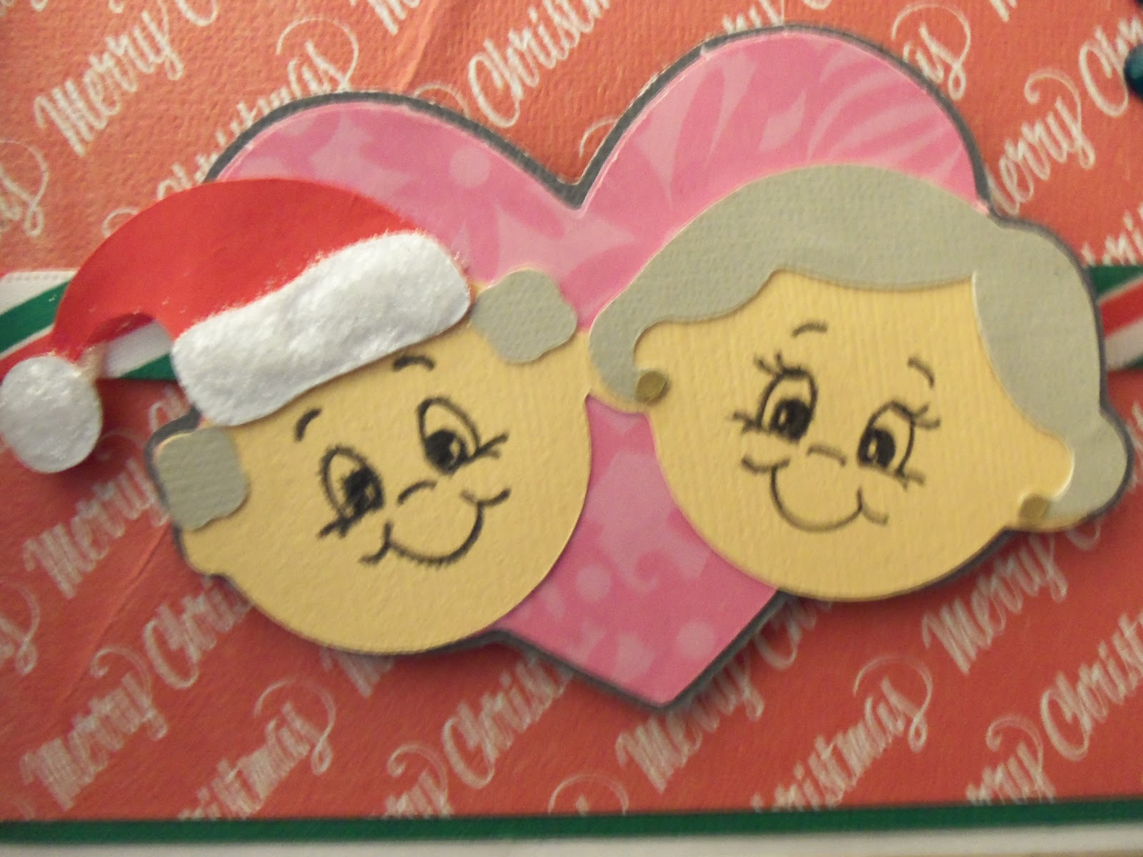 Ordinary Card Making Ideas For Grandparents Day Part - 9: This Cute Little Couple Is Really Meant For Grandparents Day. But I Cut A  Santa Hat From The Jolly Holdiays Cart To Give ...
