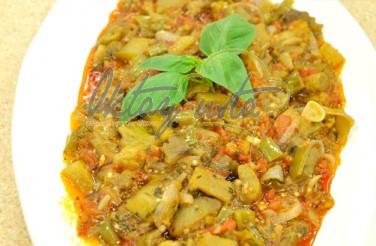 Zeytinyağlı Fesleğenli Patlıcan Tarifi
