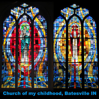 photo of: Stained Glass Windows from Indiana Childhood