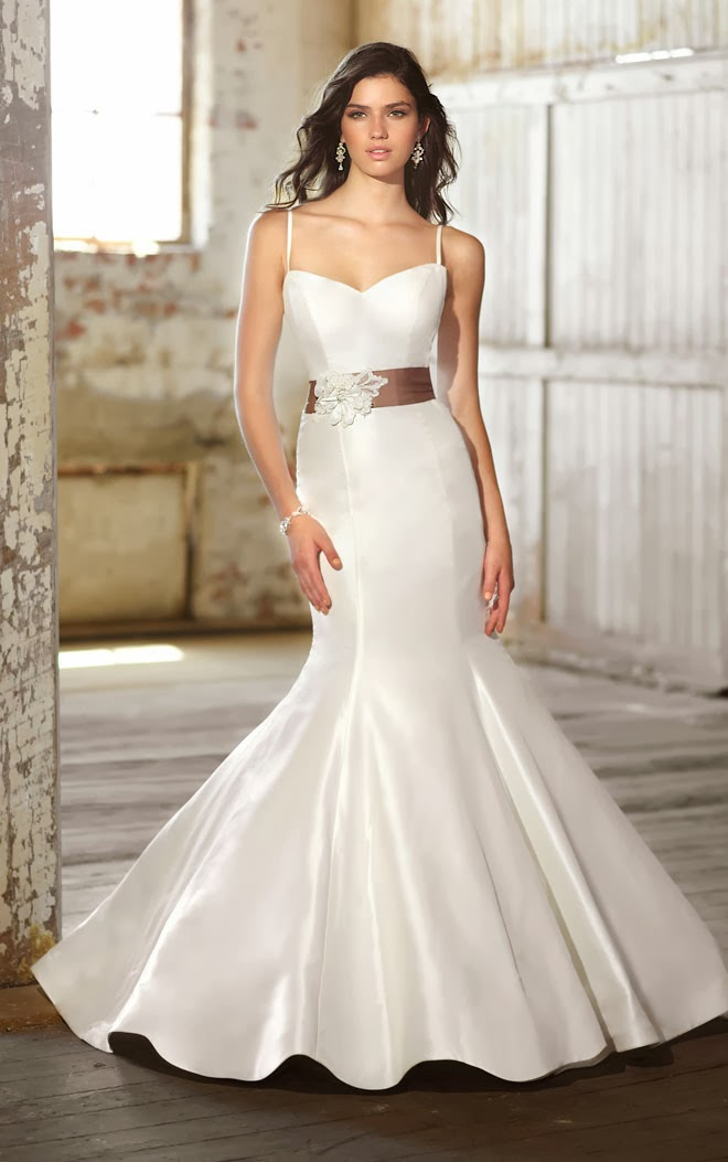 Tank Top Trumpet Silhouette Wedding Dress