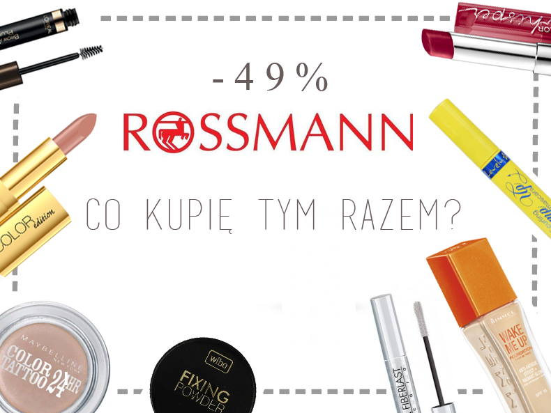 rossmann promocja -49%, co kupić w rossmannie
