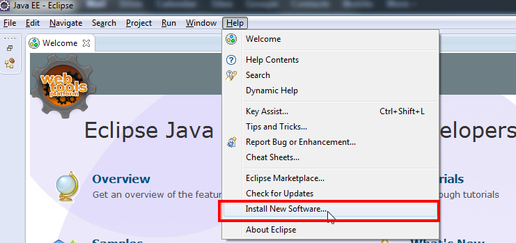 Eclipse Force.com IDE install new software