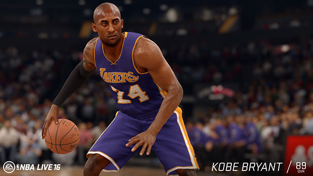NBA Live 16 : Kobe Bryant Rating