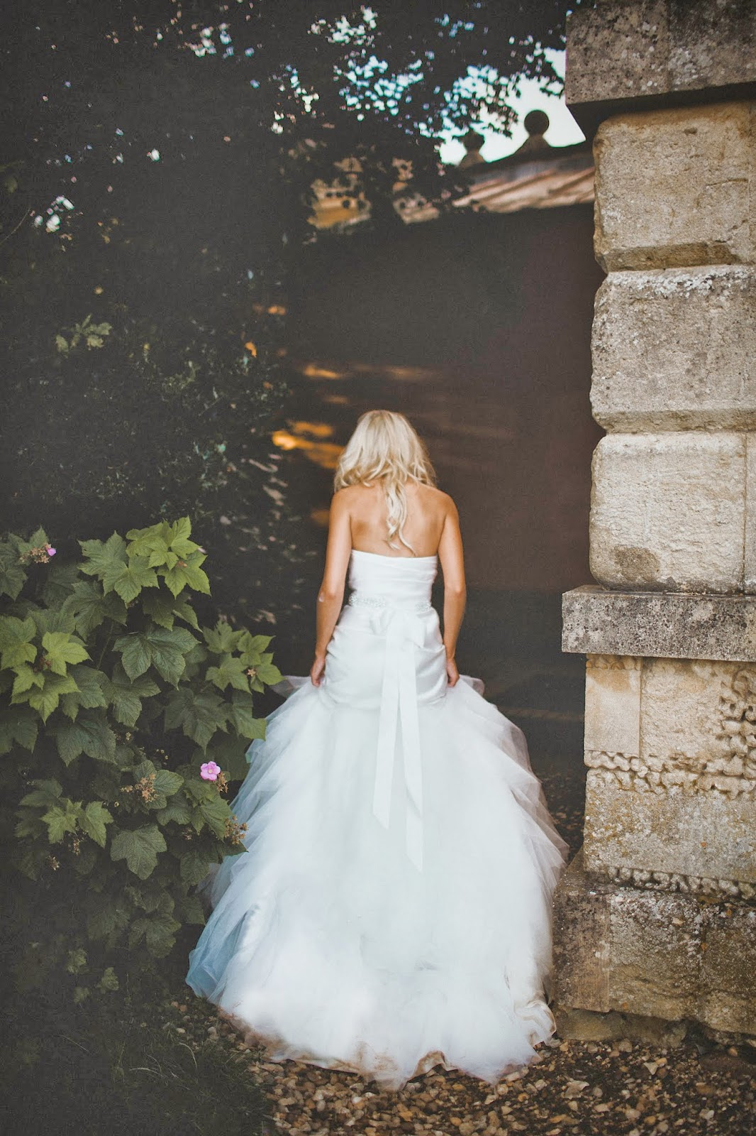 tulle mermaid wedding dress