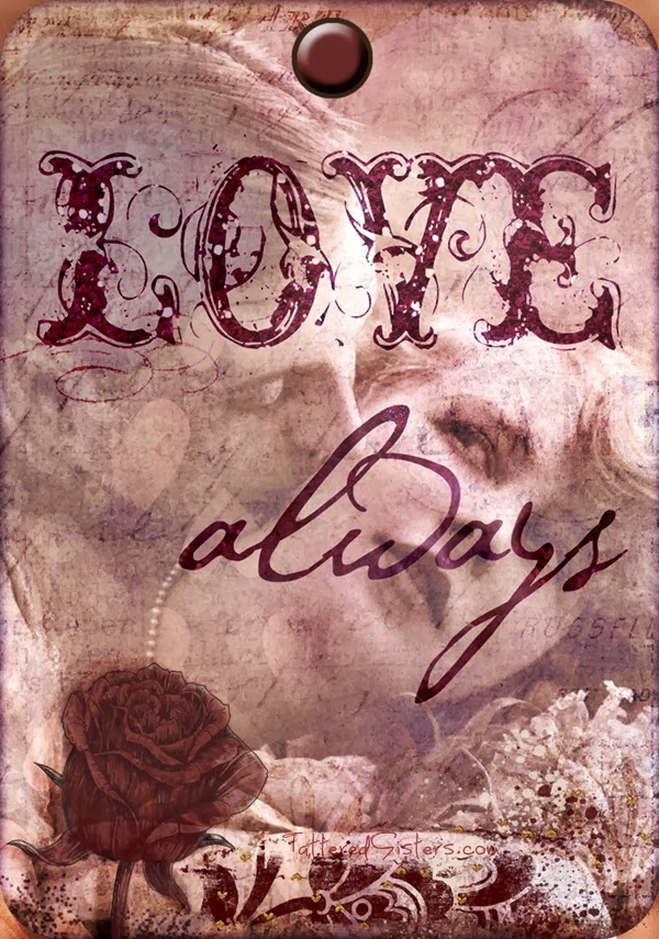 Love Always Primitive Hangtag