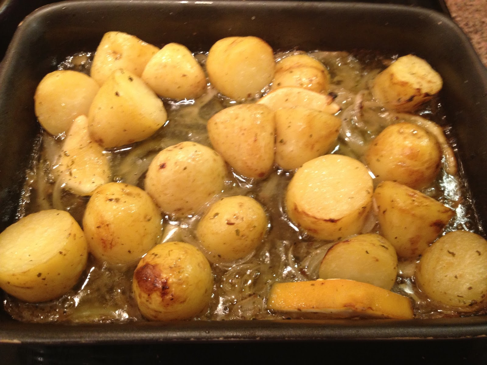 Bistro Becs: Greek Lemon Roasted Potatoes - Serious Sides