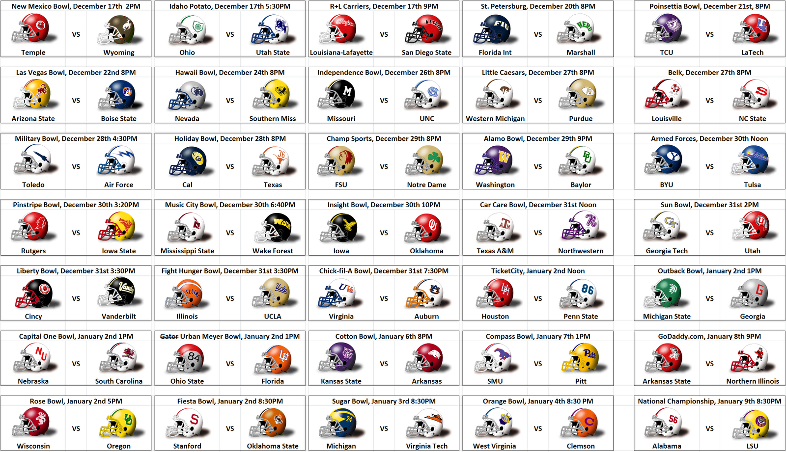 ncaa football schedules ncaafootballscore