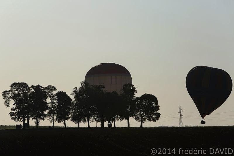 silhouettes ballons montgolfières Seine-et-Marne